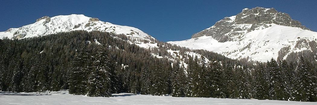 montagna innevata
